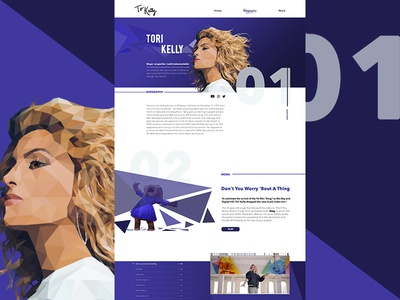 Daily UI #1 - about page for your fav artist