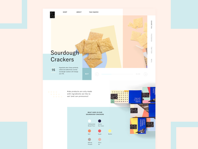 Sourdough Crackers - Aida website product ui cracker colorful