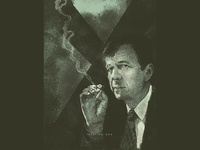 Cigarette Smoking Man smoking illustration xfiles