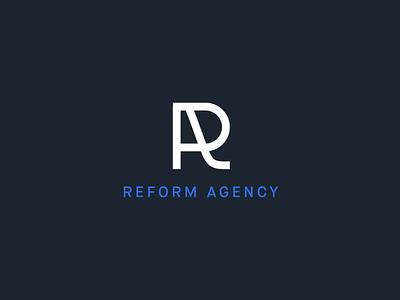 Reform Agency letter identity brand design brand and identity ux ui branding typography logo design