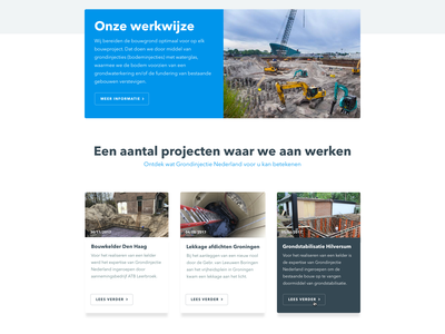 Grondinjectie - Webdesign digital design desktop online web webdesign ux ui design