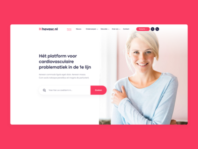 Cardiovascular platform - Webdesign