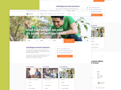 Redesign concept for a volunteer website digital design website design webdesigner web design website web webdesign ui ux design