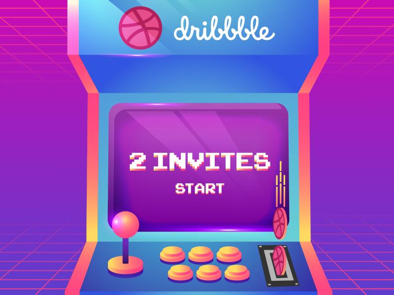 2invites creative play arcade game dribbble invites