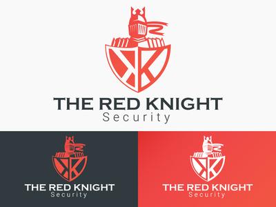 The Red Knight albania jetmir lubonja vector typography branding creative design logo design creative security knight logo knight