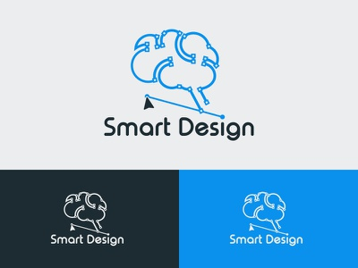 Smart Design albania jetmir lubonja smart typography branding creative design design creative logo 2d logo dribbble vector brain brain logo