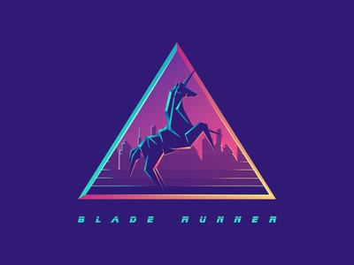 Blade Runner unicorn new york albania jetmir lubonja origami blade runner 2049 blade runner bladerunner logo creative design design illustration creative
