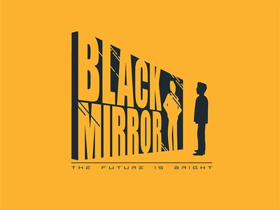 Black Mirror creative design logo 2d dribbble vector design creative albania jetmir lubonja logo black mirror