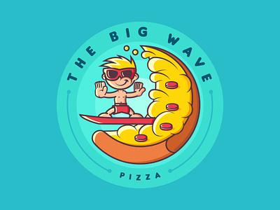 the big wave albania jetmir lubonja pizza branding vector logo 2d dribbble funny comic logo creative design illustration design creative wave