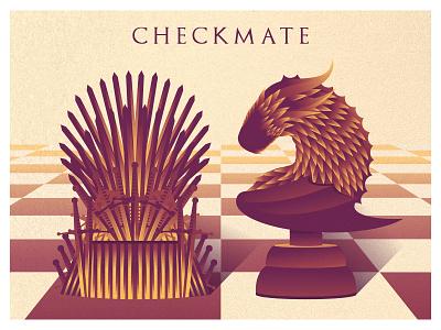 GAME OF THRONES (checkmate) game of thrones albania jetmir lubonja got daenerys targaryen jon snow vector creative design design creative chess game