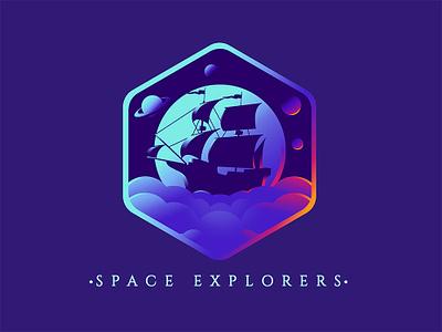 Space Explorers jetmir lubonja albania ship spaceship space typography dribbble vector creative design illustration design creative