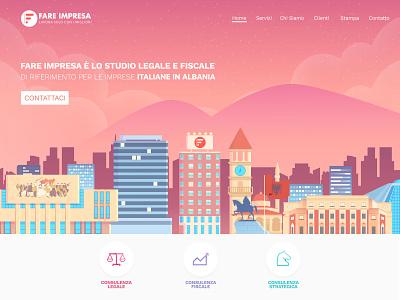 web tirana albania city logo 2d branding web dribbble vector creative design illustration design creative
