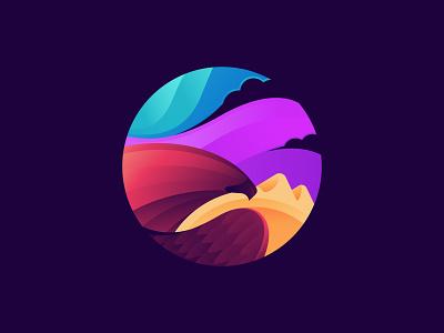 Eagle colorful colors eagle logo 2d dribbble vector logo albania creative design illustration design creative jetmir lubonja