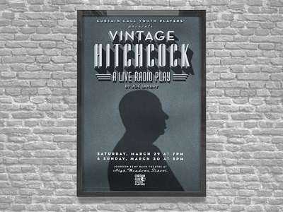 Vintage Hitchcock Theater Poster