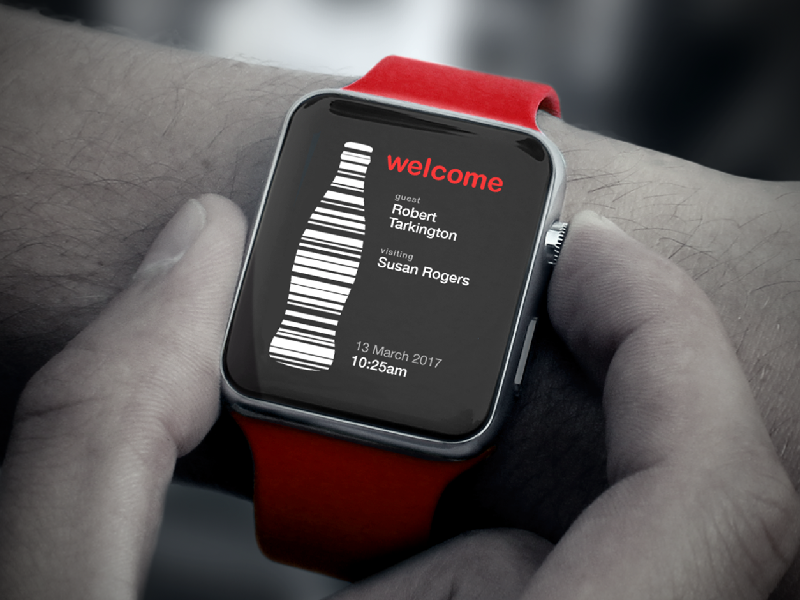Apple Watch UI for Coca-Cola Quest Services