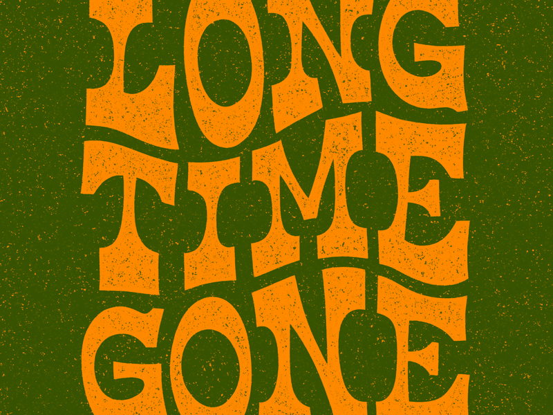 Long Time Gone yeehaw dixie chicks type typography lettering procreate illustration