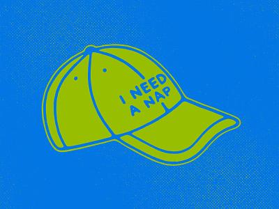 Hats & Naps hat icon flat lettering procreate illustration
