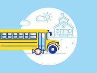 School Bus Scene