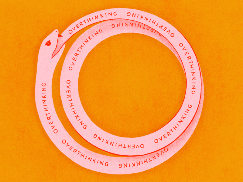 Overthinking Ouroboros procreate illustration overthinking infinity snake ouroboros