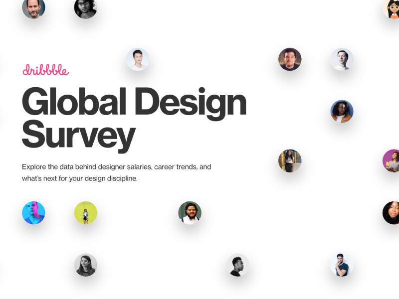 Conducted User Research for the Global Design Survey global design survey dribbble survey user research
