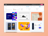 Exploring Shots on Dribbble