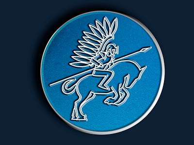 Winged Hussar Enamel Pin for No Dumb Questions Podcast battle print pin no dumb questions graphic design horse enamel pin winged hussar