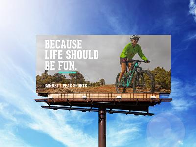 Billboard Design for Local Bike Shop print geared mountain bike bikeshop bicycle