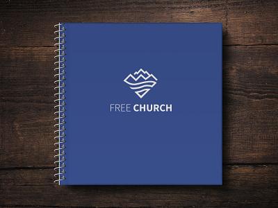 Notebook for Church Branding logo church notebook collatoral branding