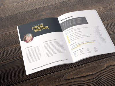 Media Kit for the Ten Minute Bible Hour ten minute bible hour print design media kit print