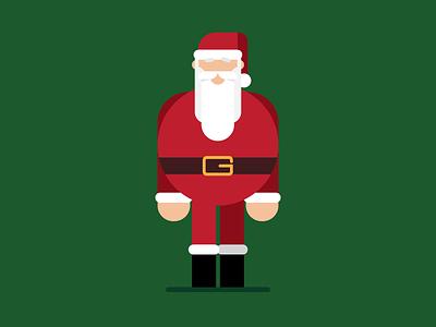 Santa Claus xmas vector illustration vector illustrator illustration flat vector characterdesign character christmas santa claus