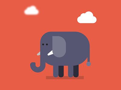 Elephant animal illustration design elephant animal flat detail flatvector illustrator illustration vector