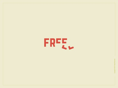Free Logotype go wordmark logotype simple clever expressive typography smart freedom free type design lettering clean minimal flat logo vector