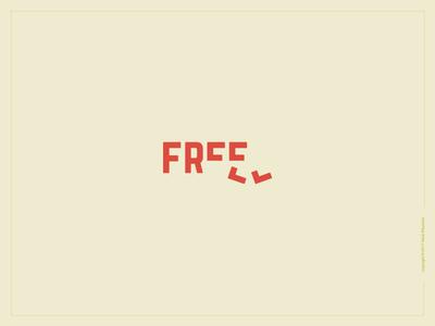 Free Logotype freedom free type design lettering clean minimal flat logo vector