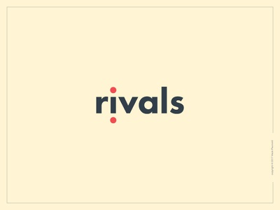 Rivals Logotype competition rivals lettering word design type flat wordmark logotype logo