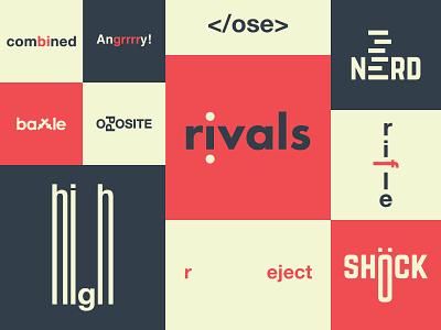 Expressive Typography #1 vector expressive typography lettering word design type flat wordmark logotype logo