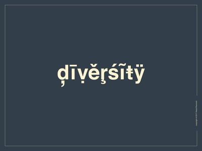 Diversity Logotype diversity vector expressive typography lettering word design type hooked flat wordmark logotype logo
