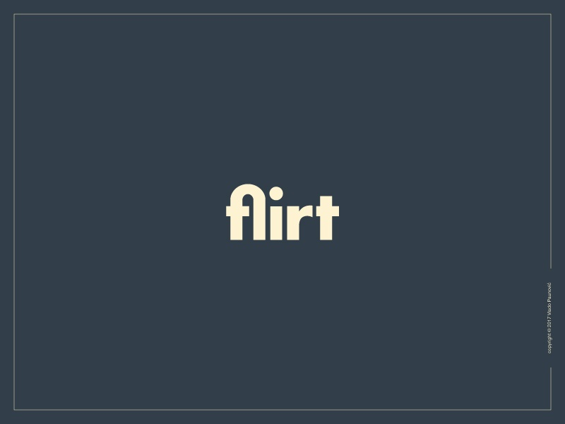 Flirt Logotype ligature flirt vector expressive typography lettering word design type flat wordmark logotype logo