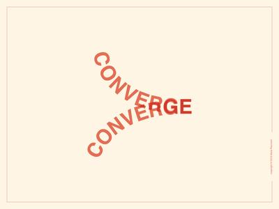 Converge Logotype helvetica simple smart expressive typography word graphic design type converge flat wordmark logotype logo