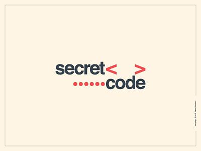 Secret Code Logotype clever simple smart expressive typography helvetica graphic design type secret code flat wordmark logotype logo