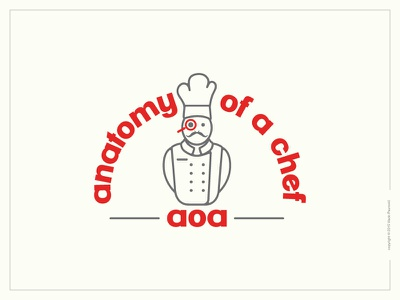 Something from the archive stroke flat magnifying glass graphic design anatomy chef logo