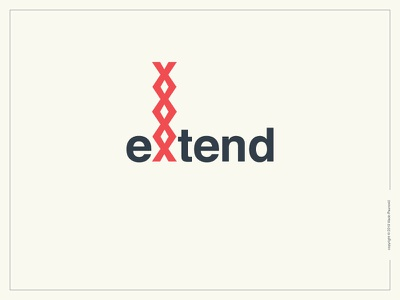 Extend Logotype clever simple smart helvetica expressive typography graphic design type extend flat loop logotype logo