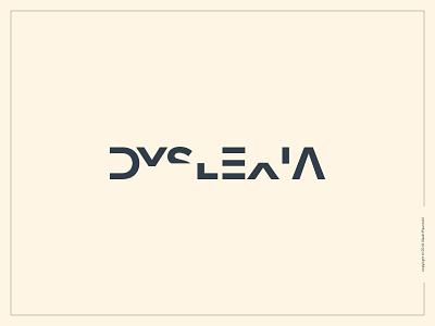 Dyslexia Logotype clever simple smart expressive typography graphic design type dyslexia flat logotype logo