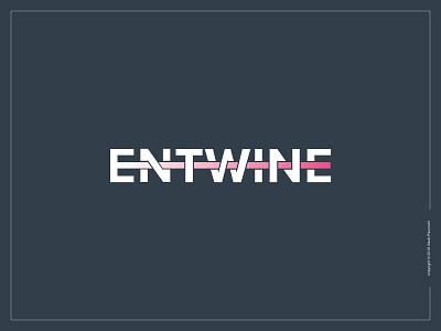 Entwine Logotype [Update] line entwine simple smart expressive typography minimal type flat logotype logo