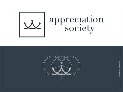 Appreciation Society Logo graphic design branding design flat icon crown logotype logo