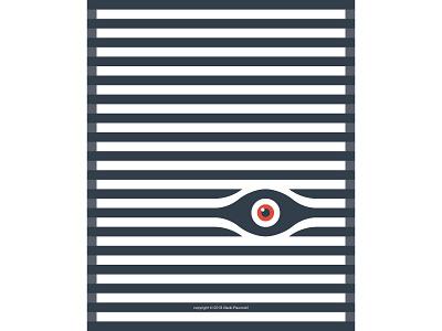 Peeking Eye illustrator window lines parallel minimal blinds peering poster art poster illustration graphic design vector simple design flat