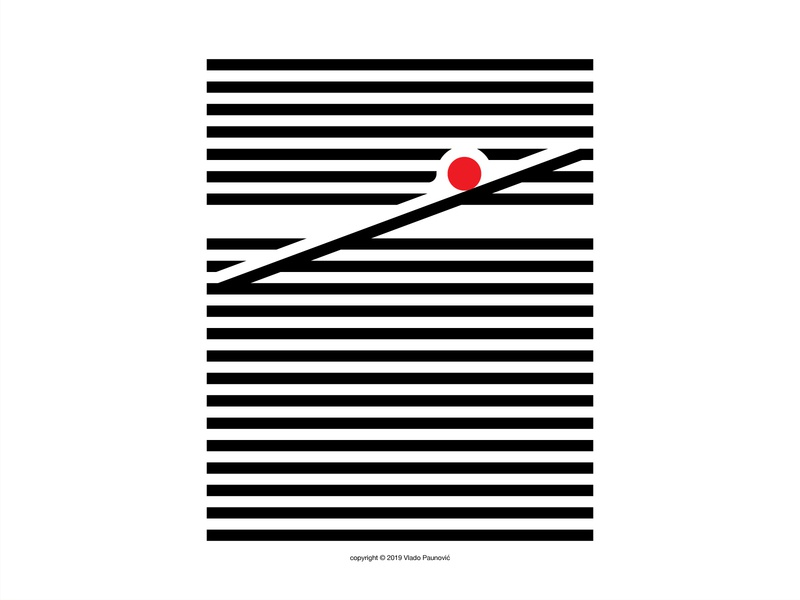 Rolling Ball circle ball adobe illustrator graphicdesign bold simple art poster design vector flat minimal negative space lines parallel red rolling