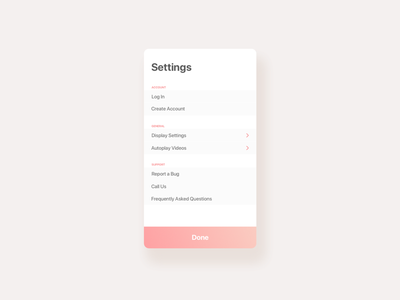#007 Settings design settings ui ux daily-ui