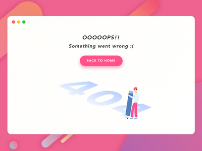 #008 404 Page error page 404 page design illustration ui ux daily-ui