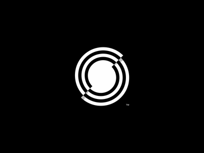 Shockwave Brandmark pulse glitch motion brand video sting wave shock shockwave monochromatic monochrome white black and white black vector design branding logo brand