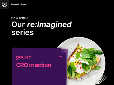 Gousto CRO blog post blog delivery gousto userinterface ux uiux ui design food homepage conversion rate optimization conversion rate optimisation cro